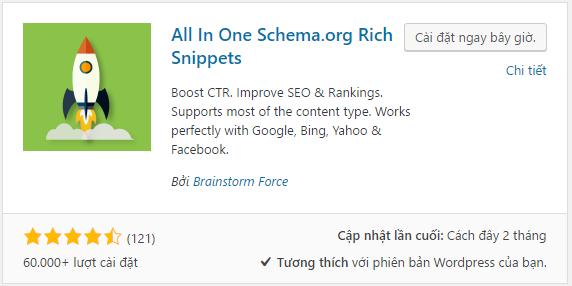 Cài đặt all in one schema.org rich snippet