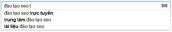 Google SearchBox gợi ý