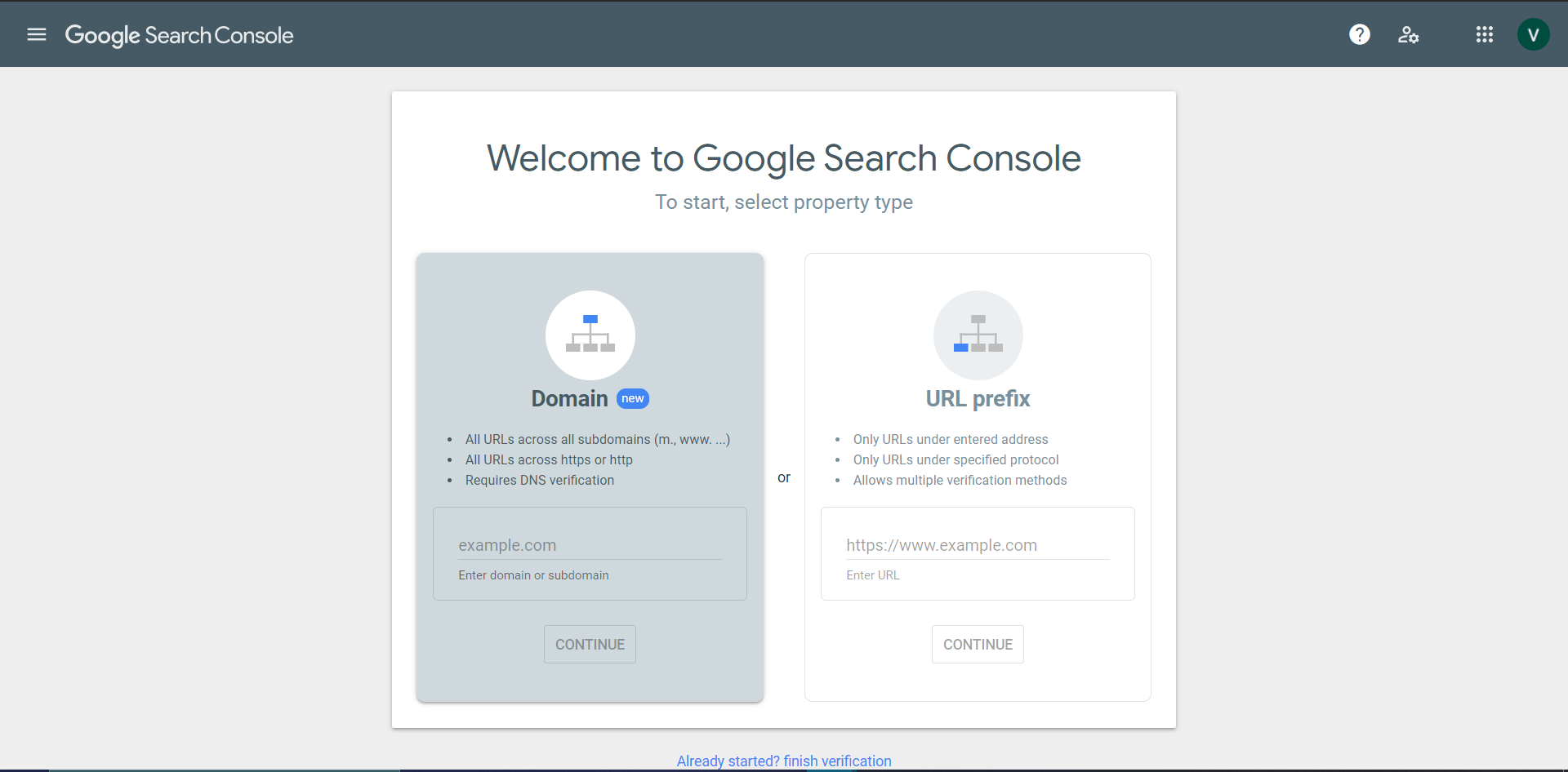 ket noi website voi search console