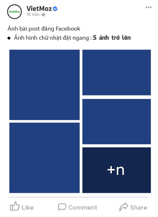 kích thước hiển thị từ 6 ảnh hình chữ nhật ngang trở lên