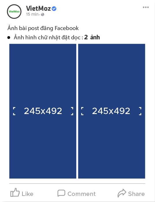 kích thước 2 ảnh hình chữ nhật dọc trên facebook