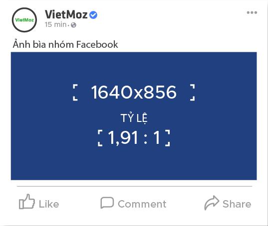 Kích thước ảnh bìa nhóm (group) trên facebook