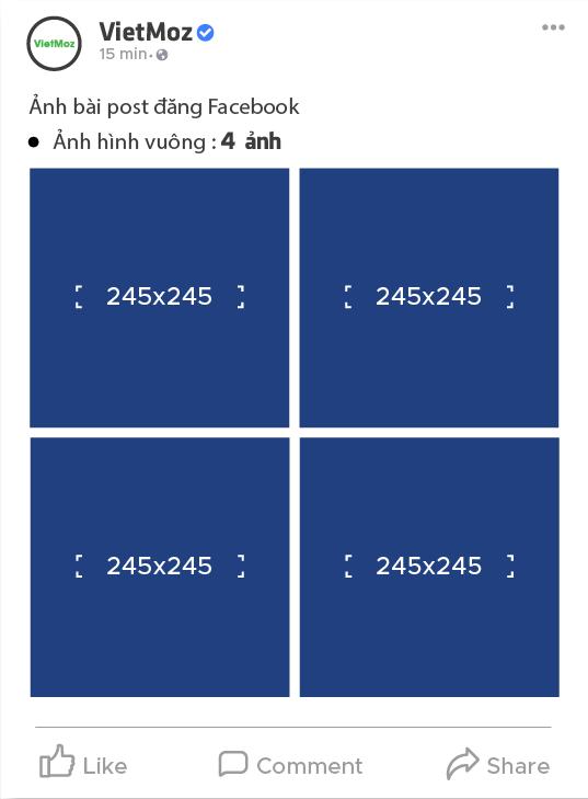 hiển thị 4 ảnh hình vuông
