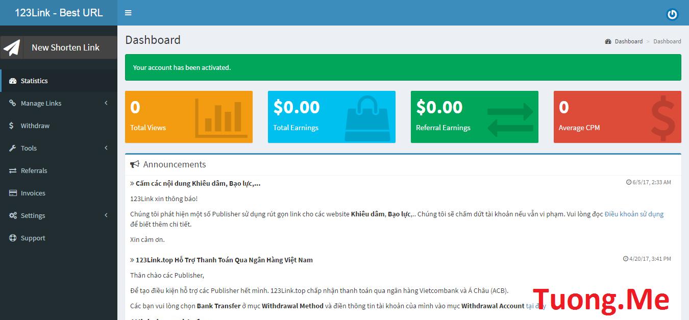 123link - Trang web rút gọn link có giá cao nhất tại Việt Nam