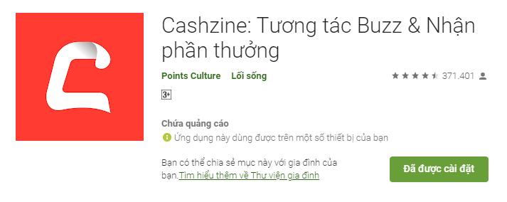 App đọc báo kiếm tiền Cashzine
