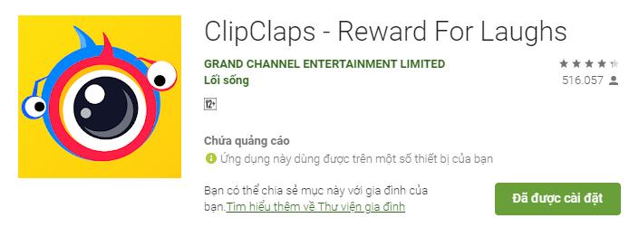 Cách kiếm tiền trên điện thoại với Clipclaps 1