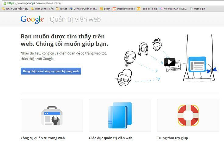 Đăng nhập vào Google Webmaster Tool