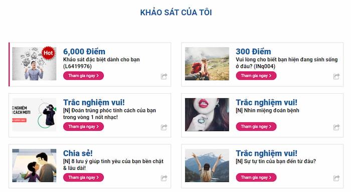 Top 14 trang khảo sát trực tuyến kiếm tiền online uy tín nhất Việt Nam