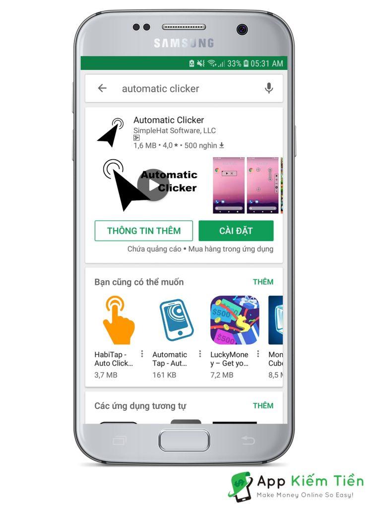 tự động click android