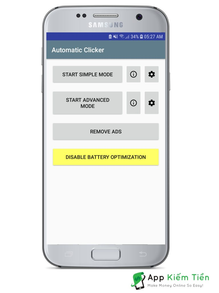 App Automatic Clicker tự động click Android
