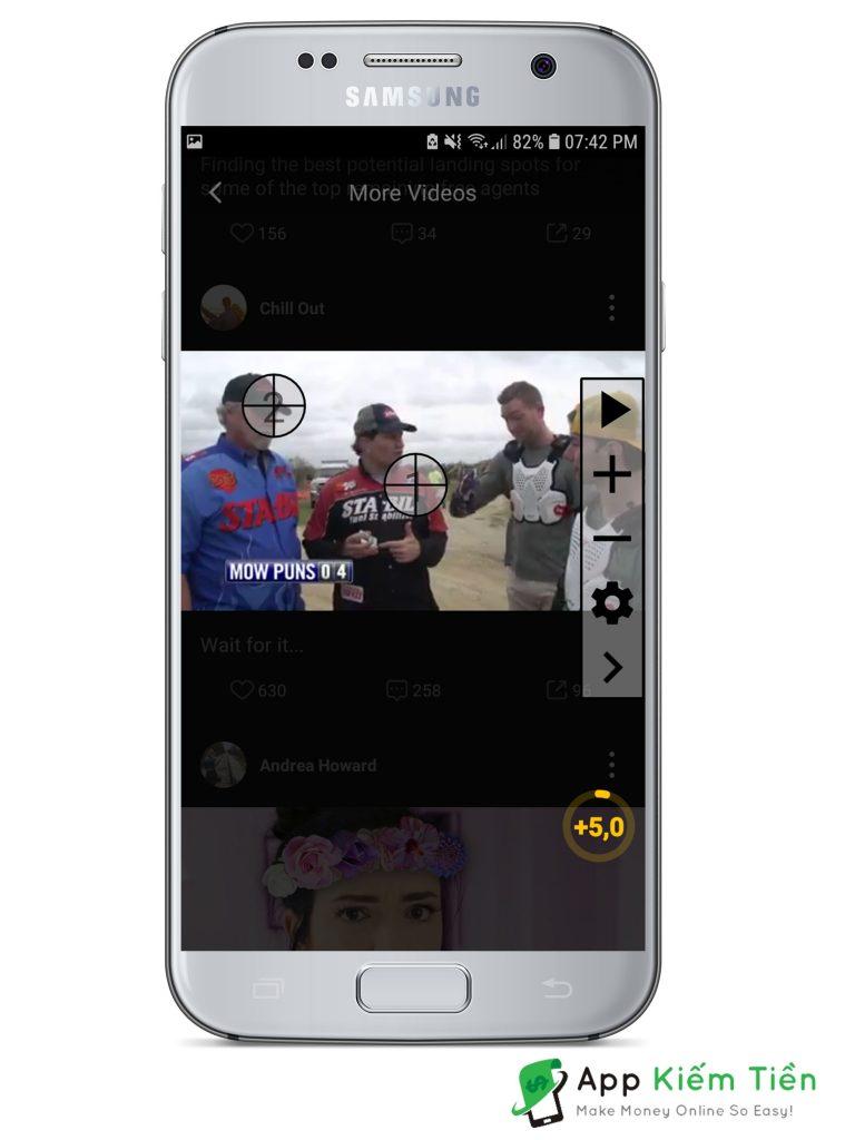 Thiết lập tự động click Video