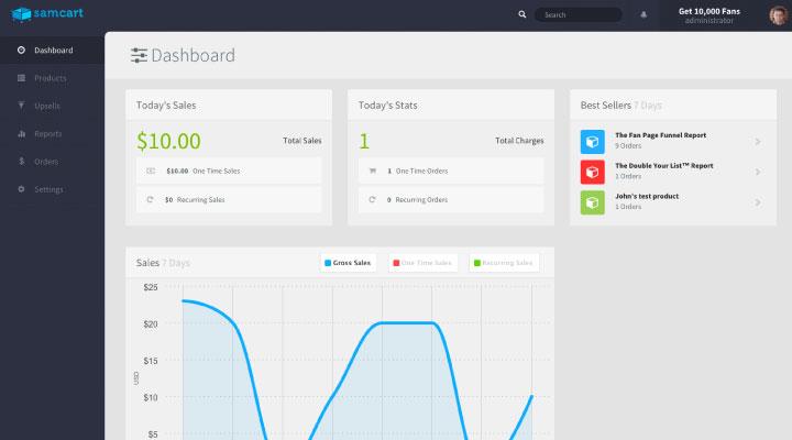 samcart dashboard1